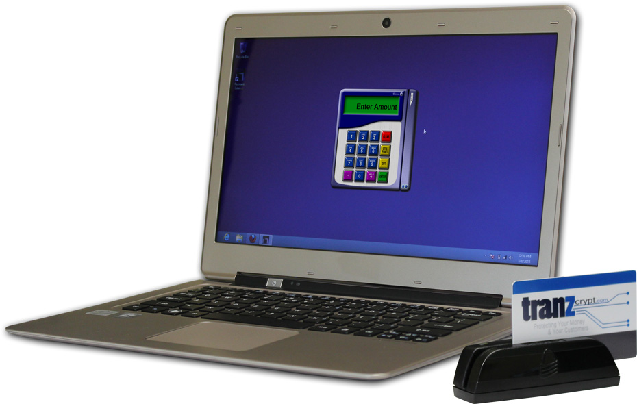 Tranzcrypt.com Encrypted Card Reader and SwIPe Software